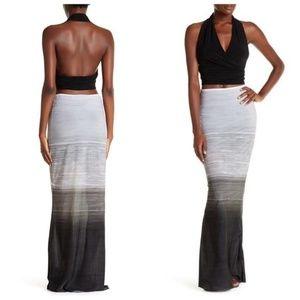 Norma Kamali Grey Ombre Maxi Skirt